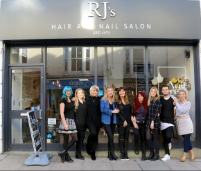 Team photo of the staff at RJ's Hair and Nail Salon